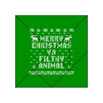Ugly Christmas Ya Filthy Animal Acrylic Tangram Puzzle (4  x 4 ) Front