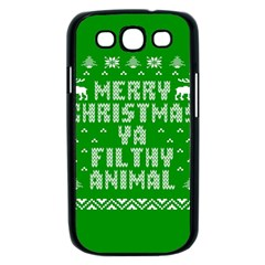 Ugly Christmas Ya Filthy Animal Samsung Galaxy S III Case (Black)