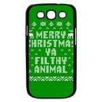 Ugly Christmas Ya Filthy Animal Samsung Galaxy S III Case (Black) Front