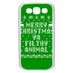 Ugly Christmas Ya Filthy Animal Samsung Galaxy S III Case (White)