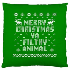 Ugly Christmas Ya Filthy Animal Large Cushion Case (Two Sides)