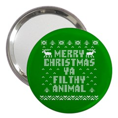 Ugly Christmas Ya Filthy Animal 3  Handbag Mirrors