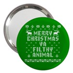Ugly Christmas Ya Filthy Animal 3  Handbag Mirrors Front