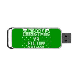 Ugly Christmas Ya Filthy Animal Portable Usb Flash (two Sides)