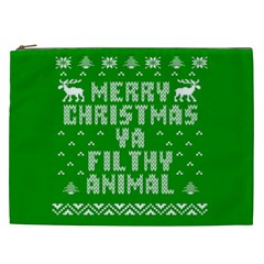 Ugly Christmas Ya Filthy Animal Cosmetic Bag (XXL)