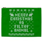 Ugly Christmas Ya Filthy Animal Cosmetic Bag (XXL)  Front
