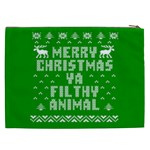 Ugly Christmas Ya Filthy Animal Cosmetic Bag (XXL)  Back