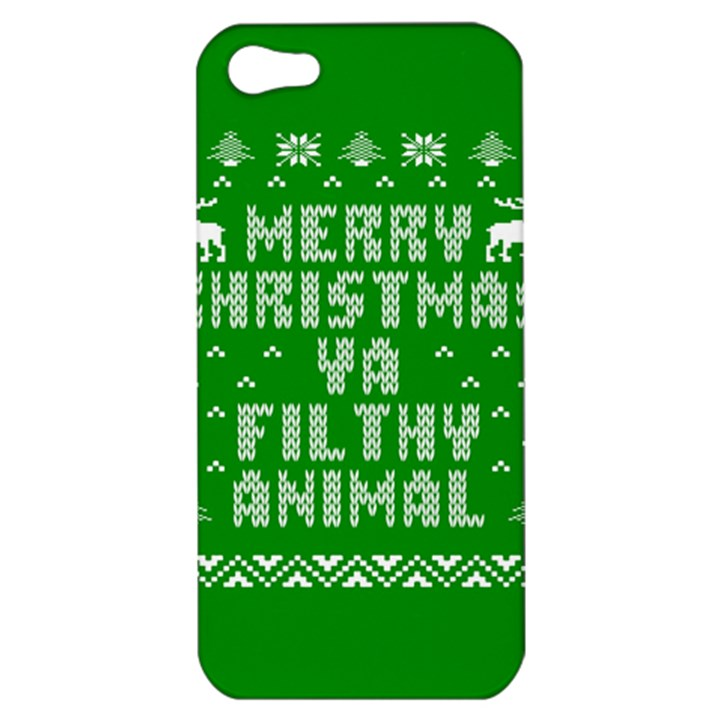 Ugly Christmas Ya Filthy Animal Apple iPhone 5 Hardshell Case