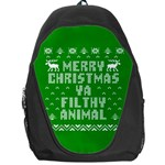 Ugly Christmas Ya Filthy Animal Backpack Bag Front