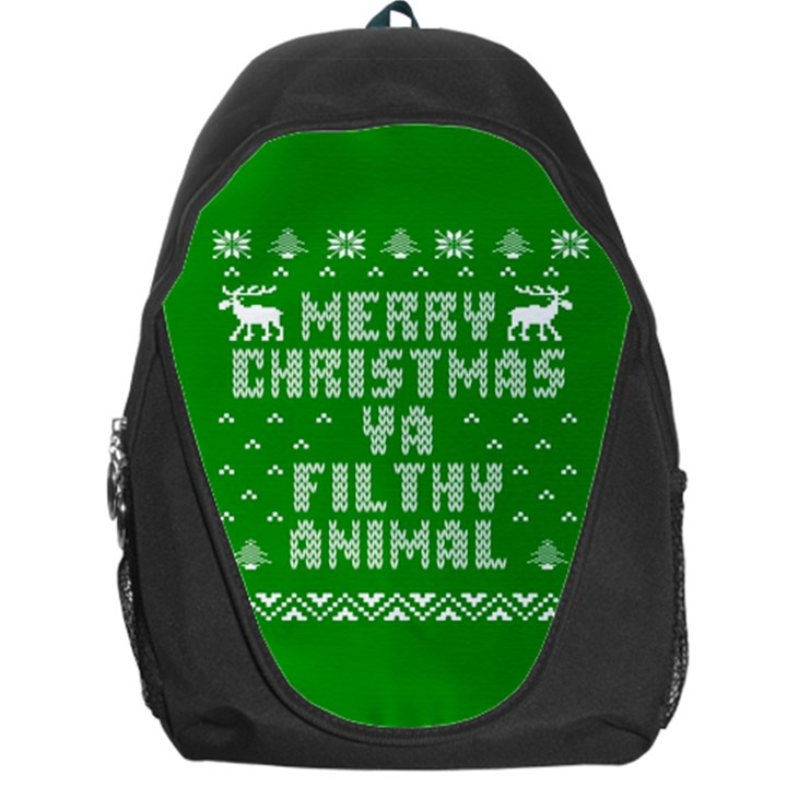 Ugly Christmas Ya Filthy Animal Backpack Bag