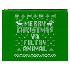 Ugly Christmas Ya Filthy Animal Cosmetic Bag (XXXL)