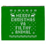 Ugly Christmas Ya Filthy Animal Cosmetic Bag (XXXL)  Front