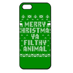 Ugly Christmas Ya Filthy Animal Apple iPhone 5 Seamless Case (Black)