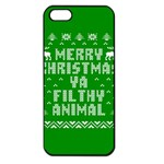 Ugly Christmas Ya Filthy Animal Apple iPhone 5 Seamless Case (Black) Front