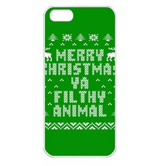 Ugly Christmas Ya Filthy Animal Apple iPhone 5 Seamless Case (White)