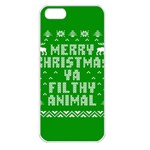Ugly Christmas Ya Filthy Animal Apple iPhone 5 Seamless Case (White) Front