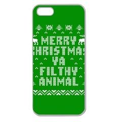 Ugly Christmas Ya Filthy Animal Apple Seamless iPhone 5 Case (Clear)