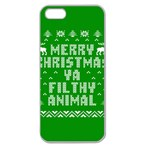 Ugly Christmas Ya Filthy Animal Apple Seamless iPhone 5 Case (Clear) Front
