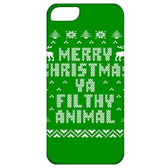 Ugly Christmas Ya Filthy Animal Apple iPhone 5 Classic Hardshell Case