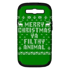 Ugly Christmas Ya Filthy Animal Samsung Galaxy S Iii Hardshell Case (pc+silicone)