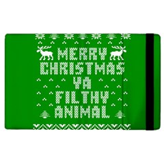 Ugly Christmas Ya Filthy Animal Apple iPad 3/4 Flip Case