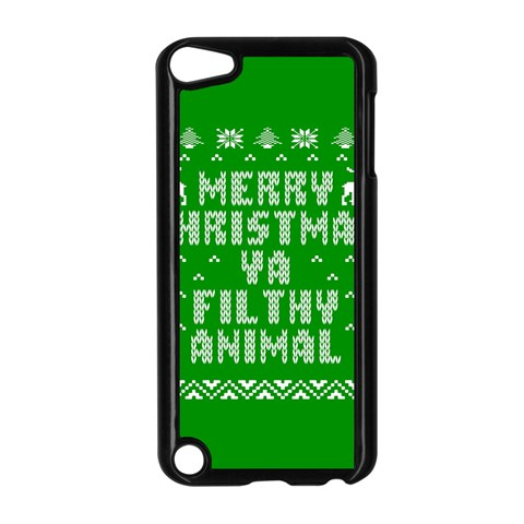 Ugly Christmas Ya Filthy Animal Apple iPod Touch 5 Case (Black)