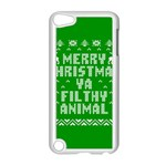 Ugly Christmas Ya Filthy Animal Apple iPod Touch 5 Case (White) Front