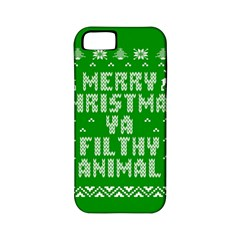 Ugly Christmas Ya Filthy Animal Apple iPhone 5 Classic Hardshell Case (PC+Silicone)