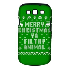 Ugly Christmas Ya Filthy Animal Samsung Galaxy S III Classic Hardshell Case (PC+Silicone)