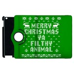 Ugly Christmas Ya Filthy Animal Apple iPad 3/4 Flip 360 Case Front