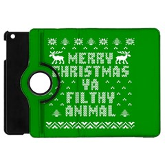 Ugly Christmas Ya Filthy Animal Apple iPad Mini Flip 360 Case