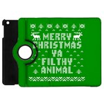 Ugly Christmas Ya Filthy Animal Apple iPad Mini Flip 360 Case Front
