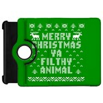 Ugly Christmas Ya Filthy Animal Kindle Fire HD Flip 360 Case Front