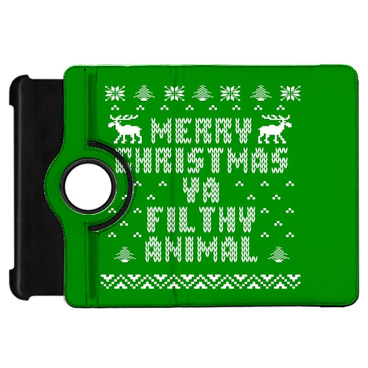 Ugly Christmas Ya Filthy Animal Kindle Fire HD Flip 360 Case