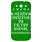 Ugly Christmas Ya Filthy Animal Samsung Galaxy S3 S III Classic Hardshell Back Case Front