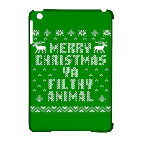 Ugly Christmas Ya Filthy Animal Apple iPad Mini Hardshell Case (Compatible with Smart Cover)