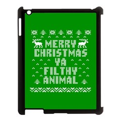 Ugly Christmas Ya Filthy Animal Apple iPad 3/4 Case (Black)