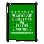 Ugly Christmas Ya Filthy Animal Apple iPad 3/4 Case (Black) Front