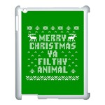 Ugly Christmas Ya Filthy Animal Apple iPad 3/4 Case (White) Front