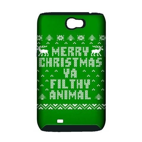 Ugly Christmas Ya Filthy Animal Samsung Galaxy Note 2 Hardshell Case (PC+Silicone)