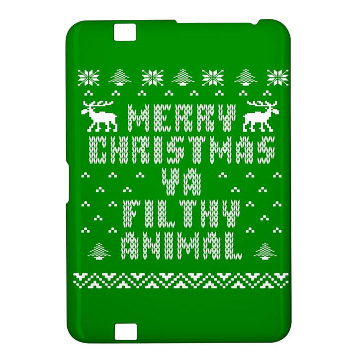 Ugly Christmas Ya Filthy Animal Kindle Fire HD 8.9