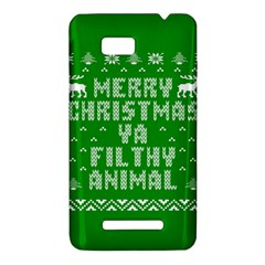 Ugly Christmas Ya Filthy Animal HTC One SU T528W Hardshell Case