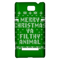 Ugly Christmas Ya Filthy Animal HTC 8S Hardshell Case