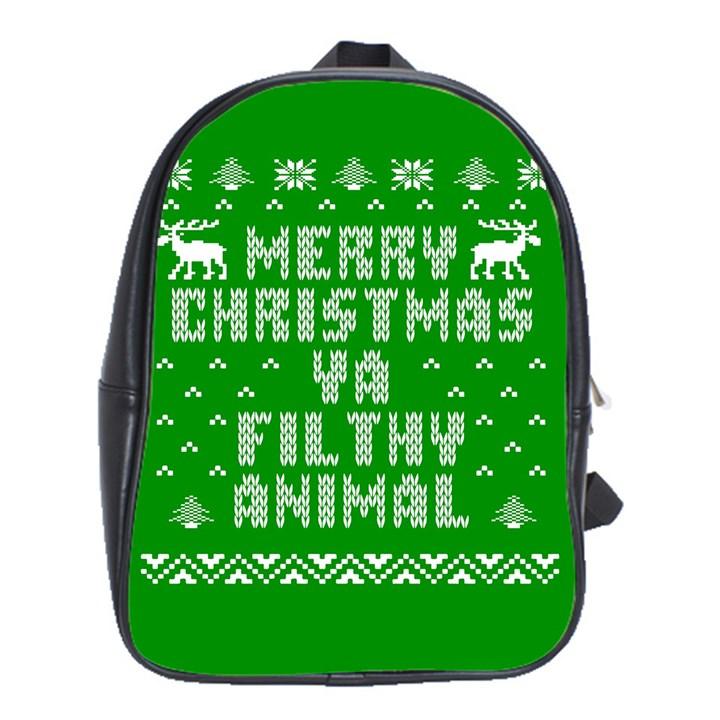 Ugly Christmas Ya Filthy Animal School Bags (XL)