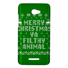 Ugly Christmas Ya Filthy Animal HTC Butterfly X920E Hardshell Case