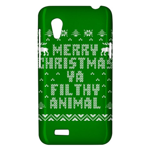 Ugly Christmas Ya Filthy Animal HTC Desire VT (T328T) Hardshell Case