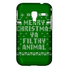 Ugly Christmas Ya Filthy Animal Samsung Galaxy Ace Plus S7500 Hardshell Case