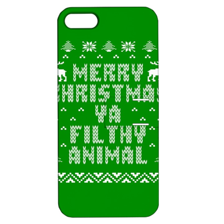 Ugly Christmas Ya Filthy Animal Apple iPhone 5 Hardshell Case with Stand