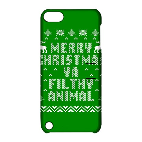 Ugly Christmas Ya Filthy Animal Apple iPod Touch 5 Hardshell Case with Stand