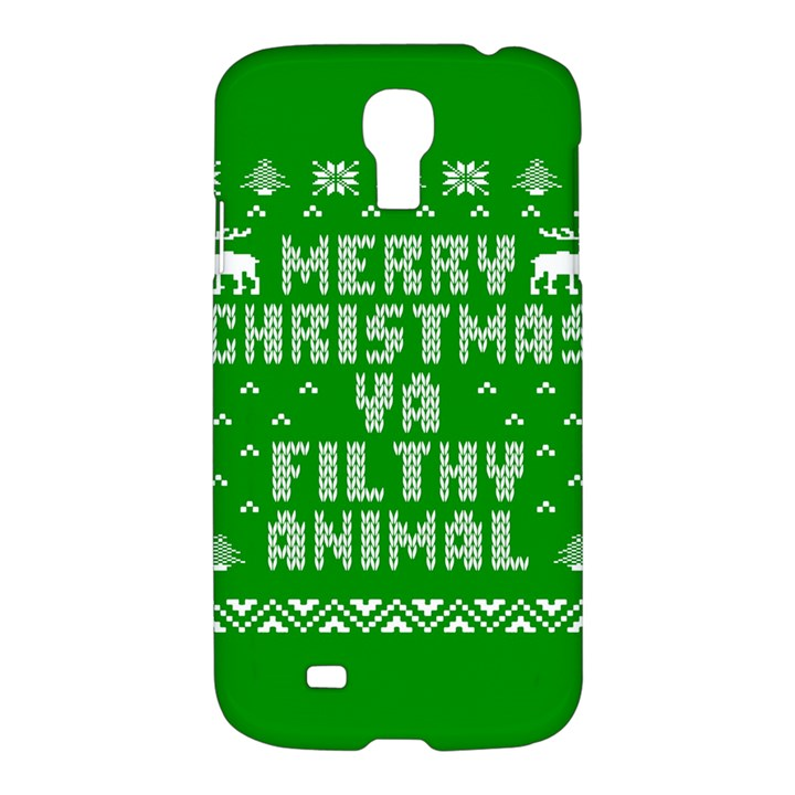 Ugly Christmas Ya Filthy Animal Samsung Galaxy S4 I9500/I9505 Hardshell Case